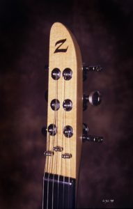 Samurai Headstock: Derived from the Samurai Sword itself